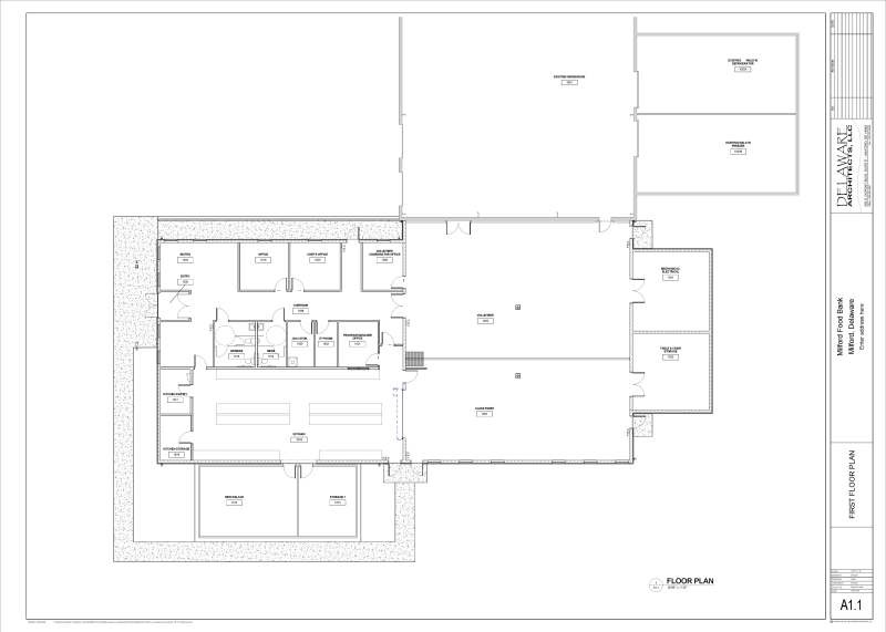 construction project floor plans