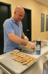 Milford culinary student helps prepare lunch for Starbucks volunteers