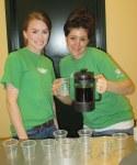 Starbucks volunteers during the coffee tasting
