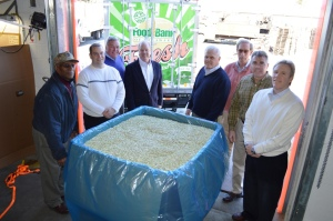Pictured (left to right): Solomon Henry (Plant Manager), Chad Robinson (Milford Branch Director), Roger Townsend (Company Owner), Bill Lingo (Company Owner), John Lingo (Company Owner), Gene Bayard (Company Owner), Derrick Lingo (Company Owner) and Paul Townsend (Company Owner). Not pictured: Owner Bryce Lingo