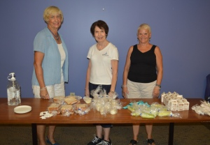 The lunchtime volunteers at the New Castle Library